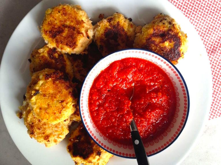 Kid-friendly recipes: Chicken and carrot nuggets with red pepper ketchup