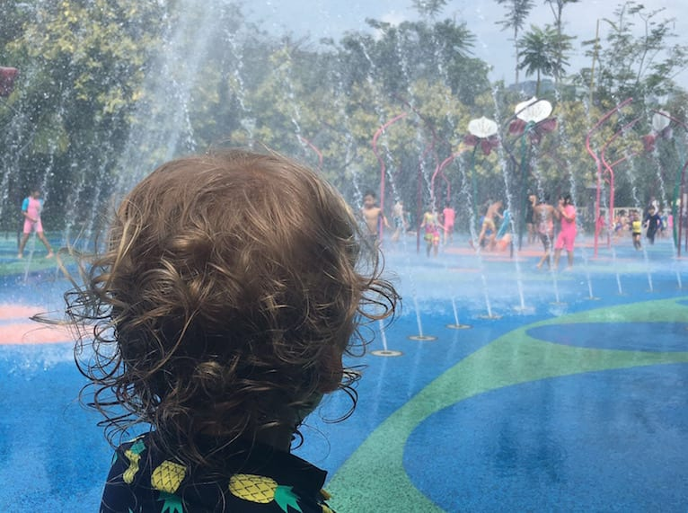 Best free water play parks Gardens by the Bay HoneyKids Asia photography Lindene Cleary