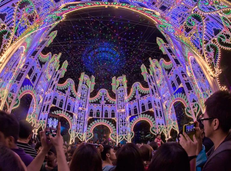 Where to see Christmas lights and festive displays in Singapore