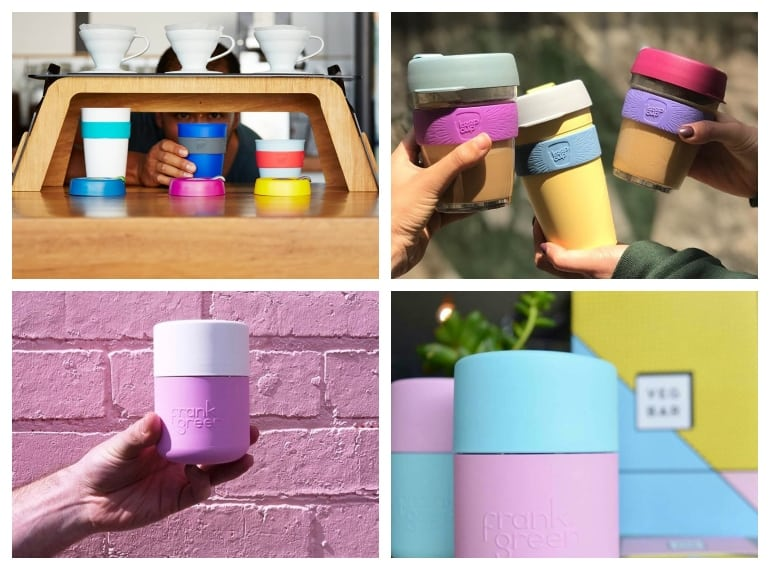 KeepCups and Frank Green reusable coffee cups help reduce plastic waste in Singapore