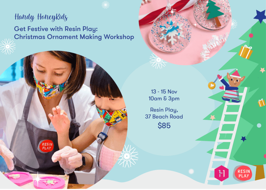 Got creative kids? Join our Christmas workshop and get into the festive spirit with Resin Play!