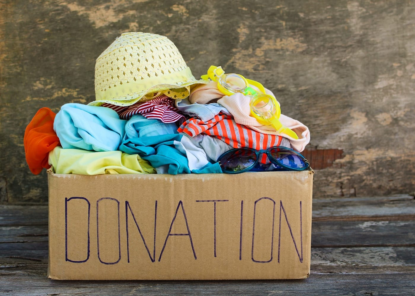 donation box pre-loved items